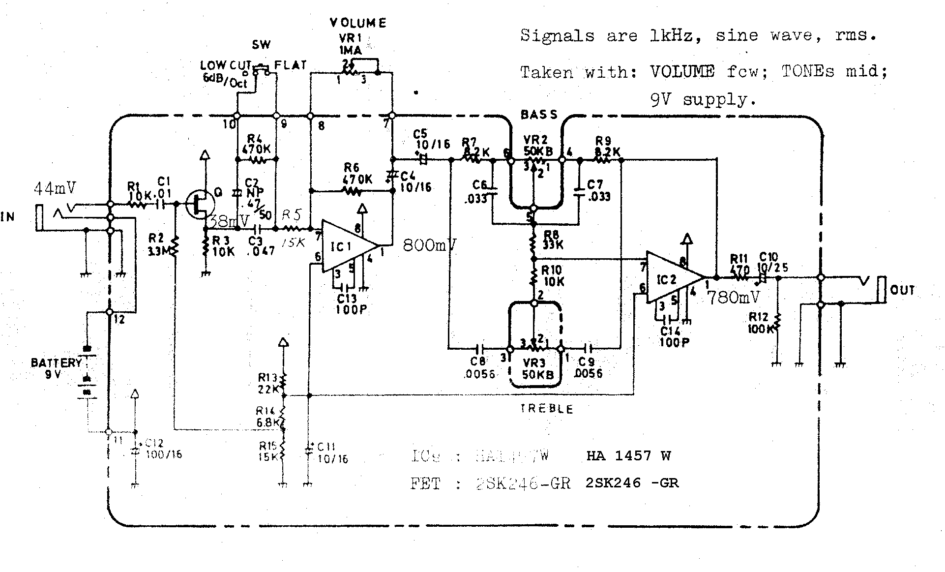 adding a mid control to the boss fa 1 preamp schematic rh music electronics forum com fa 50 wiring diagram blodgett fa-100 wiring diagram